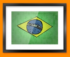 Brazil Flag Framed Print