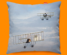 Bristol Boxkite and Avro Triplane Plane Sofa Cushion