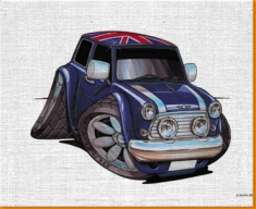 British Mini Canvas Art Print