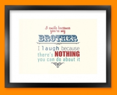 Brother Typography Framed Print