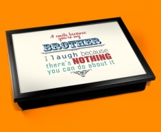 Brother Typography Lap Tray