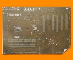 Brown Circuitboard Poster