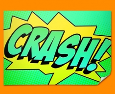 CRASH Comic SFX Poster