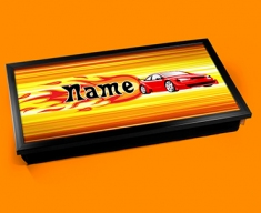 Car Personalised Childrens Name Cushioned Laptop Lap Tray