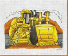 Caterpiller Bulldozer Canvas Art Print