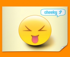 Cheeky Emoticon Poster