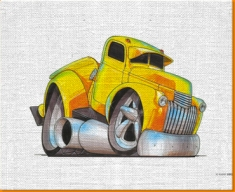 Chevrolet Pick Up Canvas Art Print