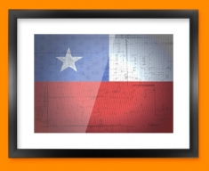 Chile Flag Framed Print