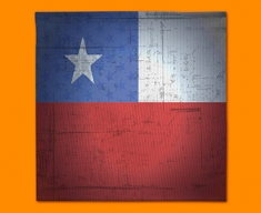 Chile Flag Napkins (Set of 4)