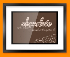 Chocolate Typography Framed Print