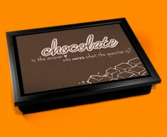 Chocolate Typography Lap Tray
