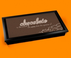 Chocolate Typography Laptop Tray