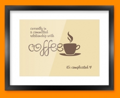 Coffee Relationship Typography Framed Print