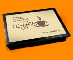 Coffee Relationship Typography Lap Tray
