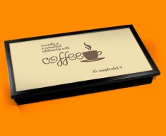 Coffee Relationship Typography Laptop Tray