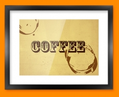 Coffee Rings Typography Framed Print