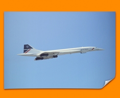 Concorde BAC Side Plane Poster