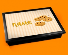 Cookies Personalised Childrens Name Cushion Lap Tray