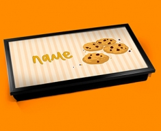 Cookies Personalised Childrens Name Cushioned Laptop Lap Tray