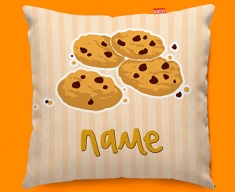 Cookies Personalised Childrens Name Sofa Cushion
