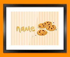 Cookies Personalised Childrens Name Framed Print
