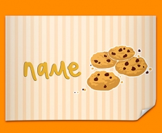 Cookies Personalised Childrens Name Poster