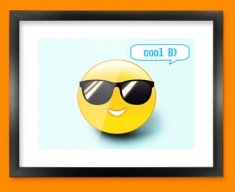Cool Emoticon Framed Print