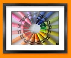 Crayons Framed Print