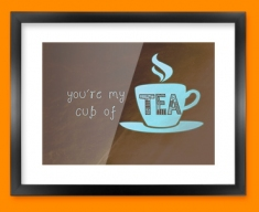 Cup of Tea Typography Framed Print