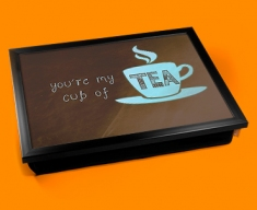 Cup of Tea Typography Lap Tray