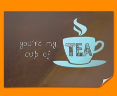 Cup of Tea Typography Poster