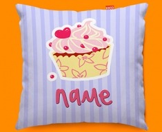 Cupcake Personalised Childrens Name Sofa Cushion