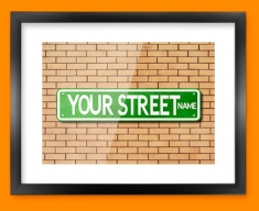 Custom US Street Sign Framed Print