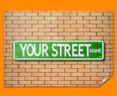 Custom US Street Sign Poster