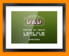 Dad Typography Framed Print