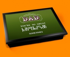 Dad Typography Lap Tray