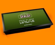 Dad Typography Laptop Tray