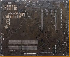 Dark Brown Circuitboard Canvas Art Print