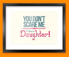 Daughter Typography Framed Print