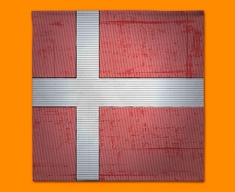 Denmark Flag Napkins (Set of 4)