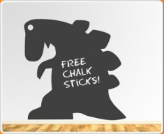 Dinosaur Chalkboard Wall Sticker