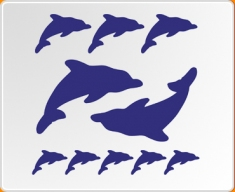 Dolphins Set Wall Sticker