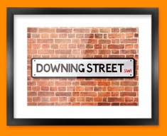 Downing Street UK Street Sign Framed Print