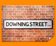 Downing Street UK Street Sign Poster