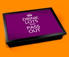 Drinks Lots Keep Calm Cushion Lap Tray