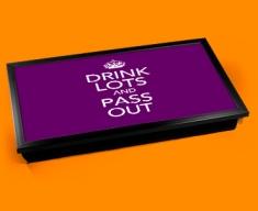 Drink Lots Keep Calm Laptop Lap Tray