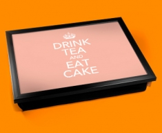 Drink Tea Keep Calm Cushion Lap Tray