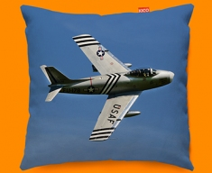 F 86 Sabre North American Aviation Plane Sofa Cushion