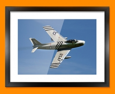 F 86 Sabre North American Aviation Plane Framed Print