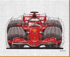 F1 Canvas Art Print